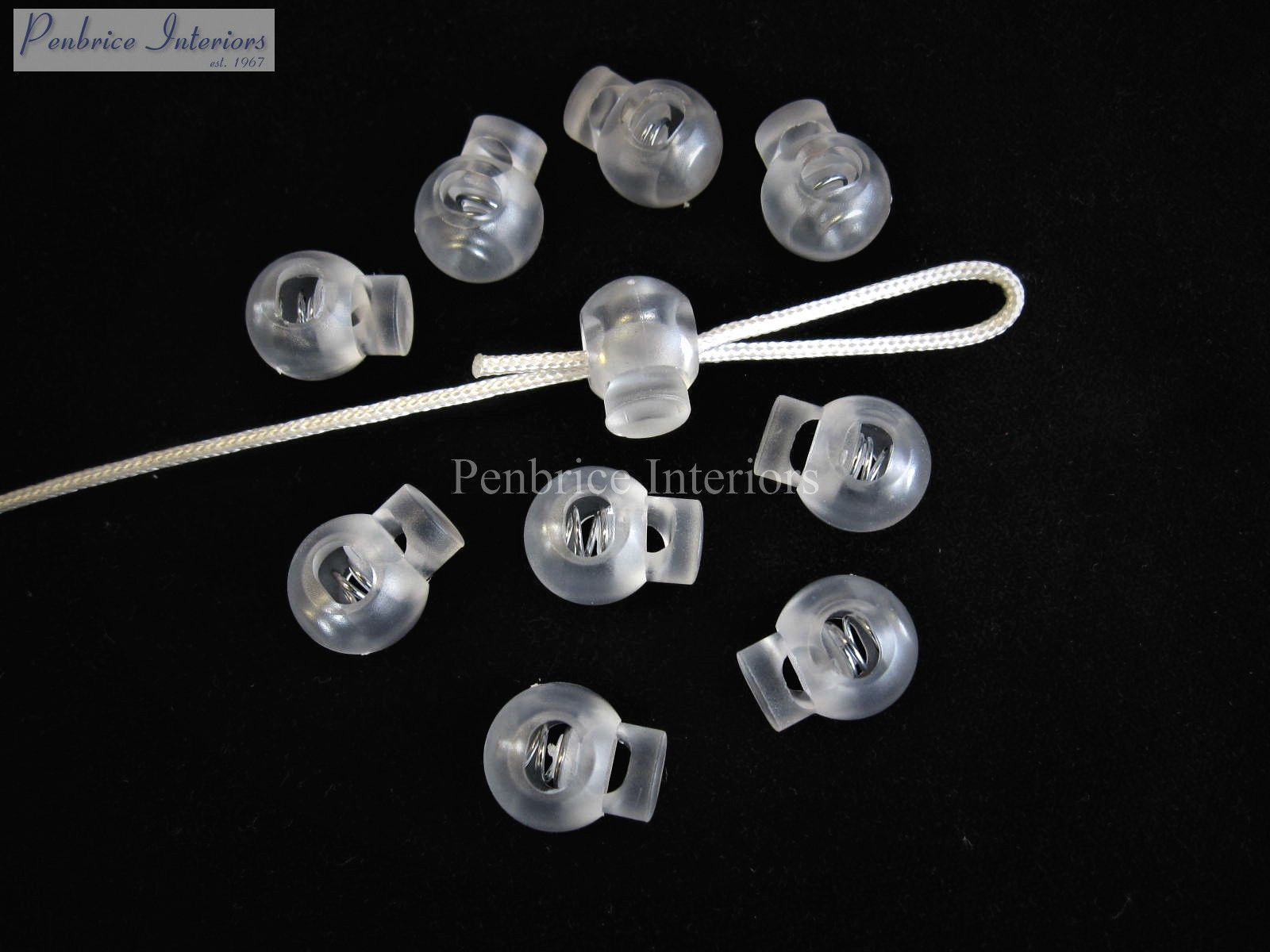 10 Orbs Roman Blind Spring Loaded Cord Stoppers String